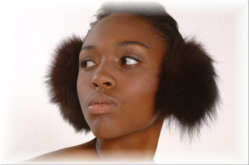 Brown Fox Fur Earmuffs 1