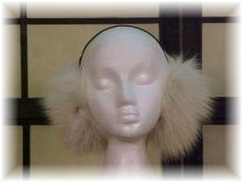 Amber Fox Fur Earmuffs