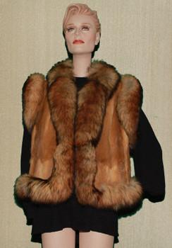 Fox Vest With Full Skin Mink Design