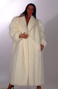 White Faux Fur Coat 1