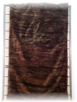 Sheared & Dyed Dark Brown Beaver Fur Blanket