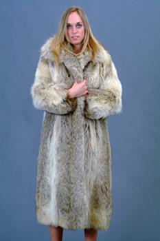 Vintage Full Skin Coyote Coat