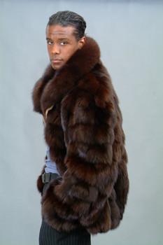 Brown Fox Bomber Fur Jacket