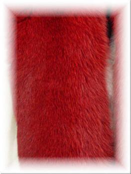 Buy Dyed Red Full Skin Fox Fur Scarf