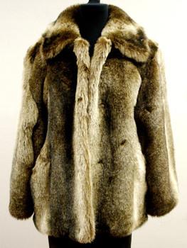 Faux Raccoon Fur Woman's Jacket