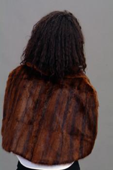 Brown Mink Fur Shawl