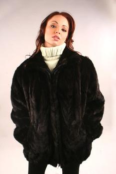 Regular Mink Bomber Jacket