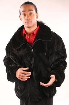 Full Skin Mink Bomber Jacket