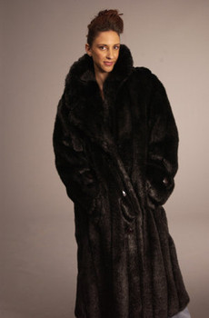 Black Faux Fur Coat 1