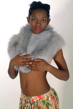 Blue Fox Fur Full Skin Cape
