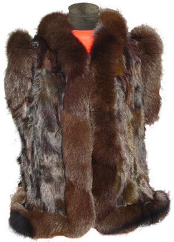 Brown Beaver Vest and Brown Trim