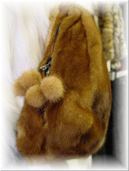 3-In-1 Golden Mink Fur Bag 2