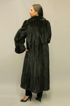 Mahogany Mink Fur Coat 10
