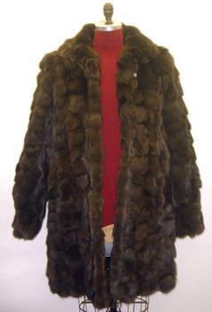 3/4 Brown Fox Design Fur Jacket