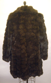 3/4 Brown Fox Design Fur Jacket