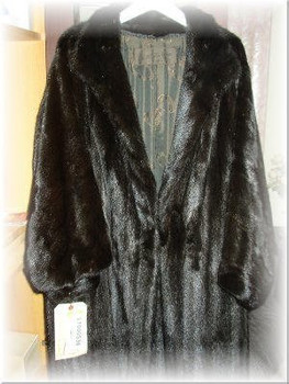 Black Ranch Mink Fur Coat