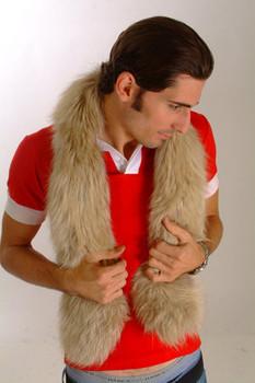 Snow Top Fur Design Men's Scarf