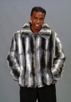 Chinchilla Rex Fur Jacket 1