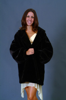 Vintage Fur Mink Jacket With Hood