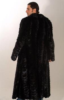 Sectional Mink Fur Long Coat
