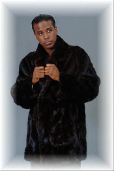 3/4 Mink Fur Jacket w/ Notch Collar 1