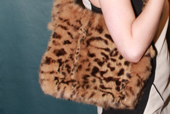 3-In-1 Golden Mink Fur Bag