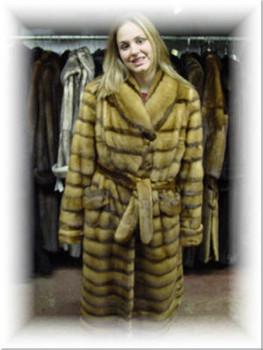 Design Full Skin Whiskey Mink Coat