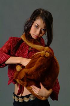 Buy Hand Bag 3-In-1 Golden Mink Fur