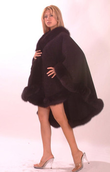 Brown Cape with Brown Fox Trim