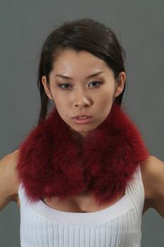 Burgundy Fox Fur Collar