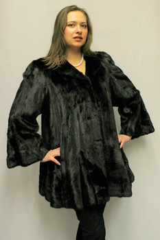 Black Mink Fur Design