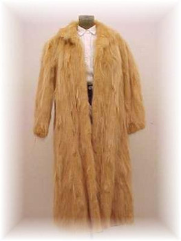 Dyed Golden Raccoon Fur Coat