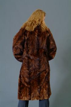 Vintage Fur Mink Sectional Long Coat