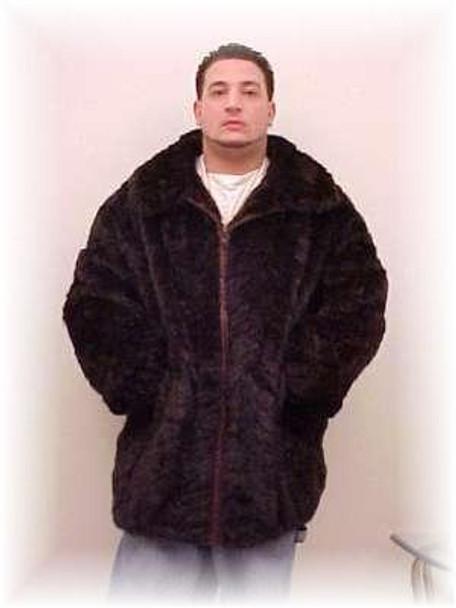 Black Sheared Mink Bomber Fur Jacket