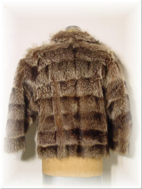 Full Skin Raccoon Fur Jacket with Raccoon Fur Collar 1