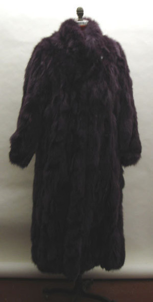 Burgundy Fox Fur Coat Design