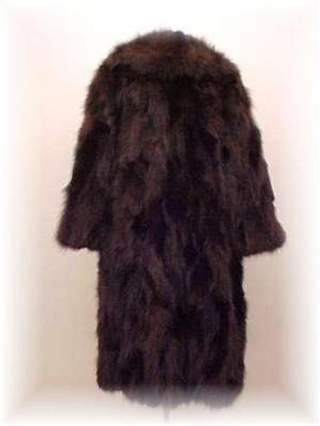 """""""Plus Size"""" Brown Fox Fur Coat"""