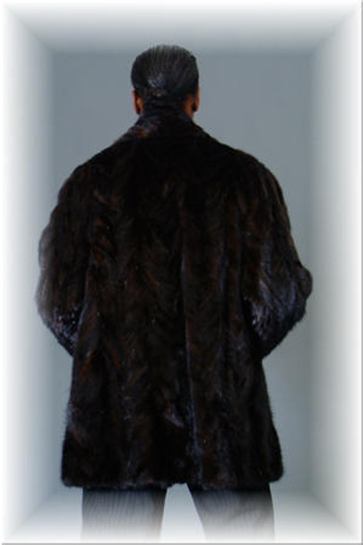 3/4 Mink Fur Jacket w/ Notch Collar 2
