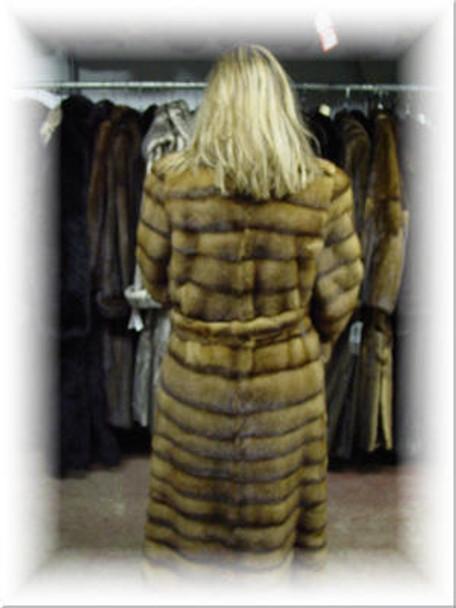 Design Full Skin Light Lunarane Mink Fur Coat