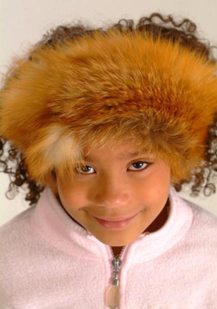 Kids Red Fox Fur Headware