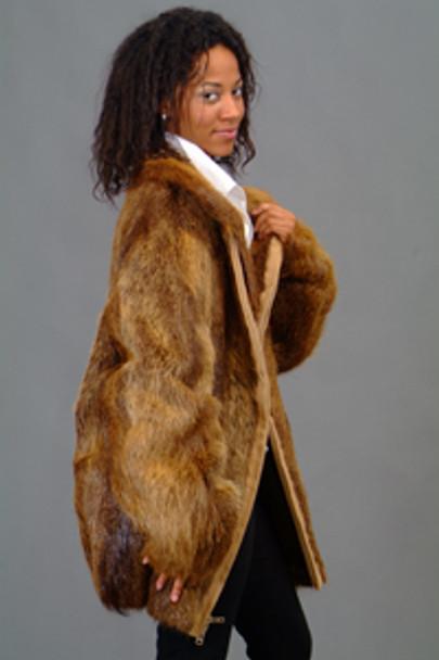 Vintage Fur Nutria Bomber Jacket