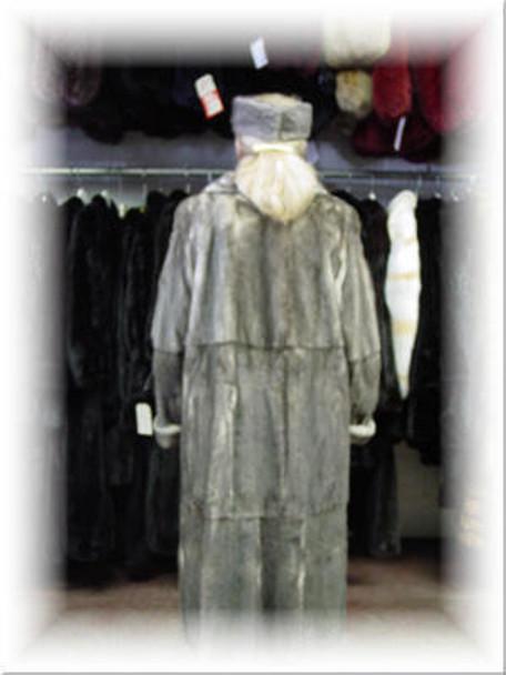 Design Full Skin Azurine Mink Fur Coat