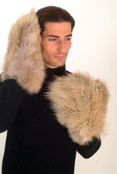 Coyote Fur Mittems Men's