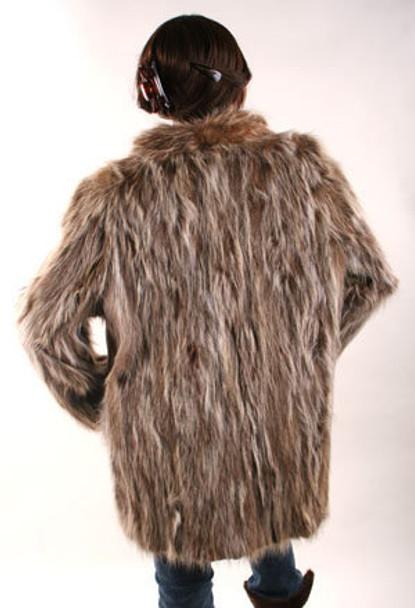 3/4 Sectional Fur Raccoon Jacket Vintage