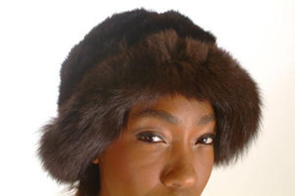 Brown Faux Fox Fur Women's