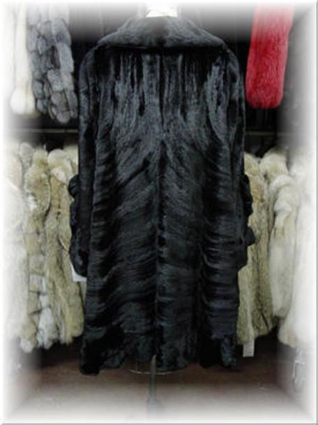 3/4 Mink Fur Coat with Mink Fur Collar