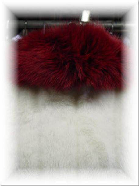 Full Skin Red Fox Wing Fur Collar
