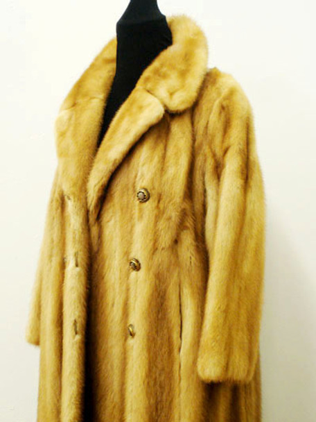Vintage Mink Fur Full Skin Coat Woman