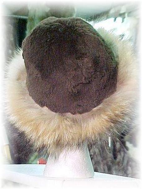 Beaver Fur Hat with Finnish Raccoon Trim