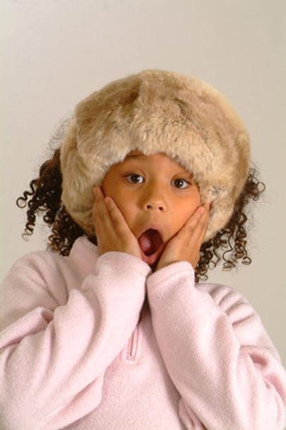 Kids chinchilla Fur Head Wrap